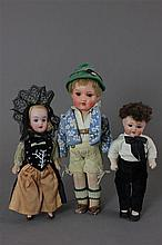 (3) GERMAN ANTIQUE ETHNIC DOLLS