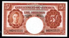 Government of Jamaica, 1957, Issued Banknote