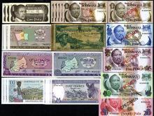 Banque Nationale du Rwanda & Bank of Botswana, 1957-1982, Lot of 30 Issued Banknotes