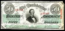 Confederate States of America, October 1863 Issued Banknote