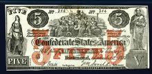 Confederate States of America. 1861. $5. Contemporary counterfeit.