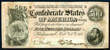 Confederate States of America. 1864. $500.