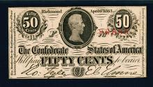 Confederate States of America. 1864. 50 Cents.