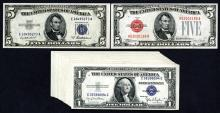 Mostly Small Size Silver Certificate Selection.