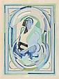 Albert GLEIZES (Paris, 1881- Avignon, 1953) COMPOSITION AU PERSONNAGE Aquarelle et crayon sur papier