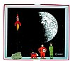 Objectif Lune  Tintin, Milou, Baxter et lafusée réf. 4591, 1500 ex. (FI : pl. 13, case 5 de l'album: «On a marché sur la lune...