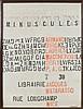 ARMAN (1928-2005) PEINTURES, DESSINS, MINUSCULES - 1957 Empreintes de tampons sur affiche