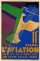 11éme SALON DE L'AVIATION, GRAND PALAIS, PARIS du 29 JUIN au 15 JUILLET 1928       Affiche lithographique signée Roger de Va...
