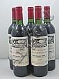 5 bouteilles CHÂTEAU FOMBRAUGE 1983 GCC Saint Emilion (étiquettes tachées)