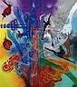 SHUCK ONE (né en 1970 -) RECYCLAGE MODERNE, 2001 Peinture aérosol et acrylique sur deux toiles (diptyque), Shuck One, Click for value