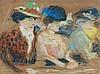Charles CAMOIN (1879 - 1965) DAMES DE JOIE Pastel sur papier