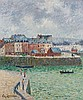 Gustave LOISEAU (1865 - 1935) LE PORT (L'AVANT-PORT DE DIEPPE) - Circa 1903 Huile sur toile