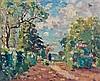 Emmanuel de LA VILLEON (1858 - 1944) ALLEE A SALVAR Huile sur toile
