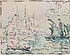 Paul SIGNAC (1863 - 1935) CONSTANTINOPLE (CORNE D'OR) - Circa 1909 Aquarelle, encre et crayon sur papier