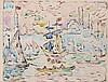 Paul SIGNAC (1863 - 1935) LA CORNE D'OR. BRUME - Circa 1908 Aquarelle et encre sur papier
