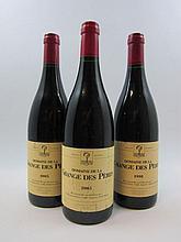 3 bouteilles 2 bts : DOMAINE DE LA GRANGE DE PERES 2005 VdP de L'Hérault (étiquettes léger abimées)