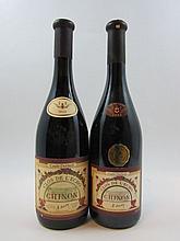 9 bouteilles 5 bts : CHINON 1989 Clos Echo. Couly Dutheil (étiquettes abimées par l'humidité, 2 habillages différents)