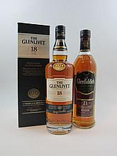 2 bouteilles 1 bt : WHISKY GLENFIDDICH Single malt. 21 ans (70 cl - 40°)