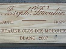 12 bouteilles BEAUNE 2007 1er cru Clos des Mouches