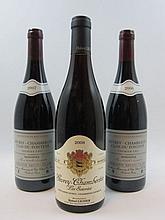 11 bouteilles 9 bts : GEVREY CHAMBERTIN 2006 1er cru Clos du Fonteny. Bruno Clair (dont 1 étiquette léger tachée)
