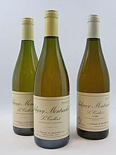 11 bouteilles 1 bt : PULIGNY MONTRACHET 1996 1er cru Le Cailleret. Domaine de Montille