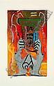 SHUCK ONE (né en 1970 -) SERIES CHEMIN FUTUR - HOM OBJECT, 2000 Série de 4 oeuvres à la peinture aérosol et acrylique sur toiles, Shuck One, Click for value