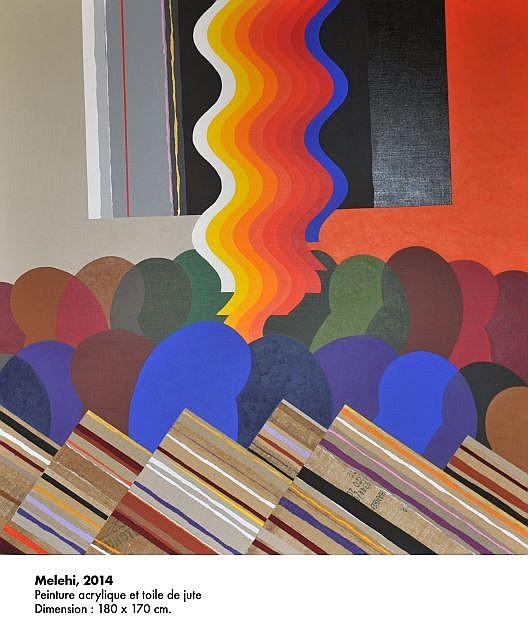 ¤ Mohamed MELEHI (Né en 1936) MELEHI, 2014 Acrylique sur toile