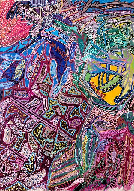 JONONE (John Perello dit) (né en 1963) MASTER AND SLAVE, 1995 Acrylique sur toile