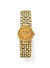 VACHERON CONSTANTIN Ref.7149 n°460363 vers 1970 Montre bracelet de dame en or 18k (750). Boîtier rond. Cadran crème. Mouvement m...