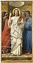 Attribué à Charles-Zacharie Landelle Laval, 1821 - Chennevières-sur-Marne, 1908 Le Christ et les quatre Evangélistes Huile sur toile