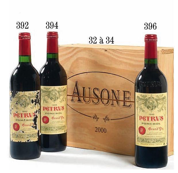 3 bouteilles CHÂTEAU AUSONE 2000 1er GCC (A) Saint Emilion Caisse bois d'origine (photo)