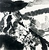ZAO WOU- KI (1920-2013) SANS TITRE - 1999 Encre de Chine sur papier marouflé sur papier