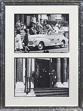 SIR WINSTON CHURCHILL DEVANT L'HÔTEL DE PARIS EN 1933 ET 1945