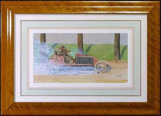 Harry ELIOTT (Hermet Charles Edmond) 1882 - 1959 Louis Renault, course Paris-Madrid 1903