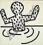 ¤Keith HARING (1958-1990) SANS TITRE, 1981 Marqueur sur papier marouflé sur panneau d'isorel