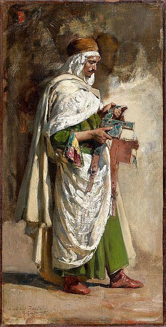 Gustave GUILLAUMET (Puteaux, 1840 - Paris, 1887) L'examen du harnais