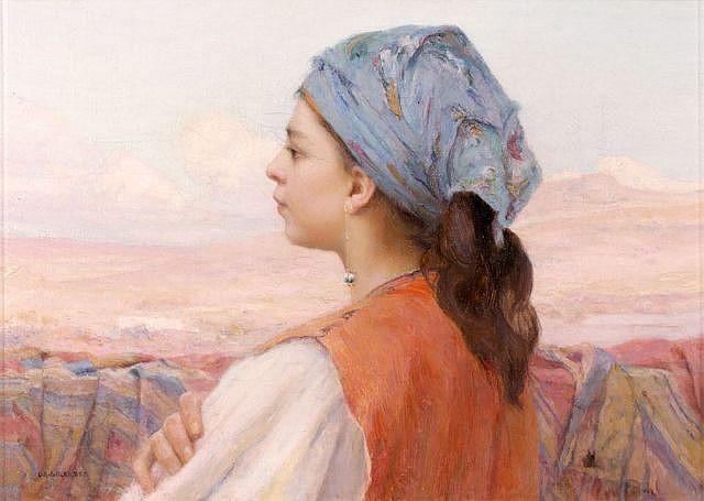 Louis Auguste GIRARDOT (Loulans-les-Forges, 1856 - Verchamp, 1933) Jeune fille de Tétouan