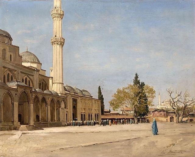 Ernest BUTTURA (Paris, 1812 - Paris, 1852) Vue de la mosqué Yeni-Djami à Istanbul