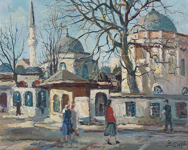 Ibrahim SAFI (Nakhichevan,1898 - Istanbul,1983) Sainte-Sophie, Istanbul