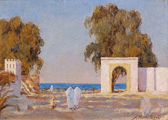 Alexandre ROUBTZOFF (Saint-Pétersbourg, 1884 - Tunis, 1949) Bord de mer