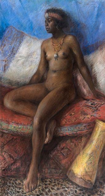 Carlos ABASCAL (1871 - 1948) Jeune Mauresque, 1925
