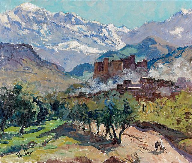 Henri PONTOY (Reims,1888 - Reims, 1968) Casbah dans l'Atlas enneigé