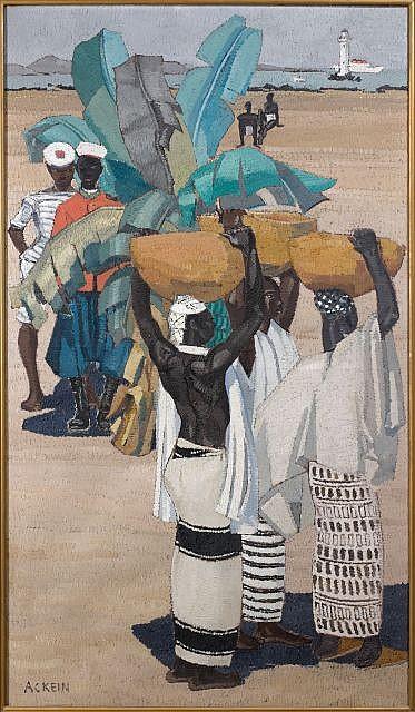Marcelle ACKEIN (Alger 1882 - Paris 1952) Passantes