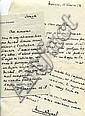 Marcel PAGNOL 2 l.a.s. 1 env. manuscrite :