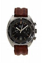 HEUER AUTAVIA réf. 73663, vers 1970 Chronographe bracelet tonneau en acier