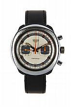 HEUER TEMPORADA, vers 1970 Chronographe bracelet en
