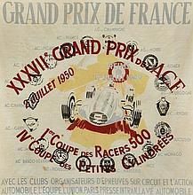 FOULARD  Grand Prix de France, Reims, 1950