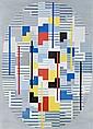 Adolf Richard FLEISCHMANN (1892-1968) COMPOSITION, 1954 Huile sur toile