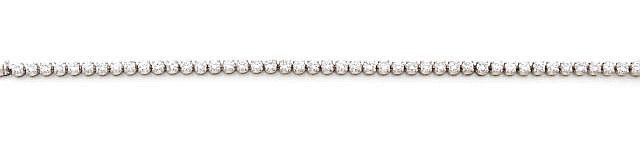 A DIAMOND AND WHITE GOLD BRACELET