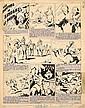 CALVO Edmond-François (1892-1958) LES AVENTURES DE SINDBAD LE MARIN Encre de Chine, le cartouche de titre imprimé et collé, ainsi qu...